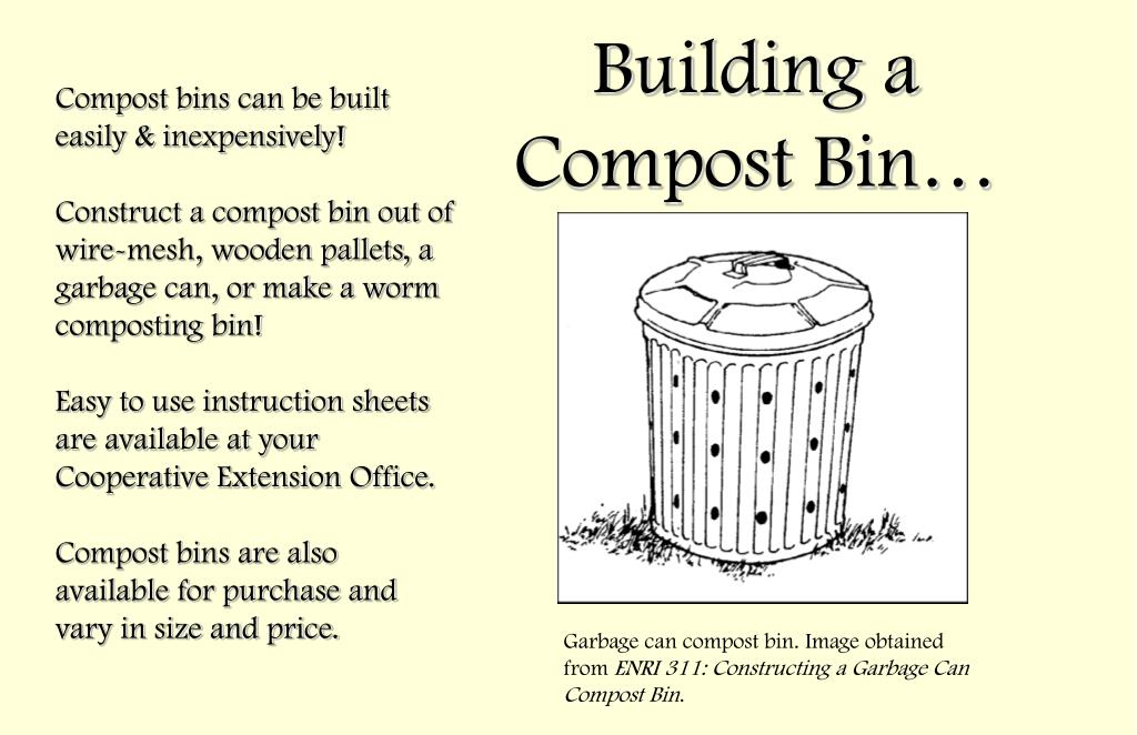 Compost bins can be built easily & inexpensively!
