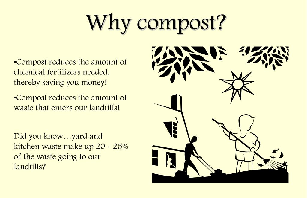 Compost reduces the amount of chemical fertilizers needed, thereby saving you money!