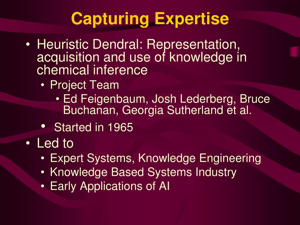 Capturing Expertise