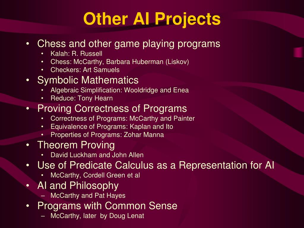 Other AI Projects