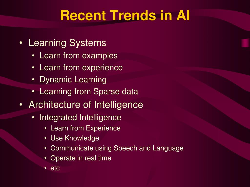 Recent Trends in AI
