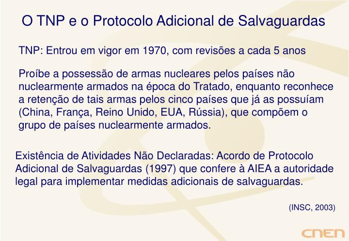 O TNP e o Protocolo Adicional de Salvaguardas