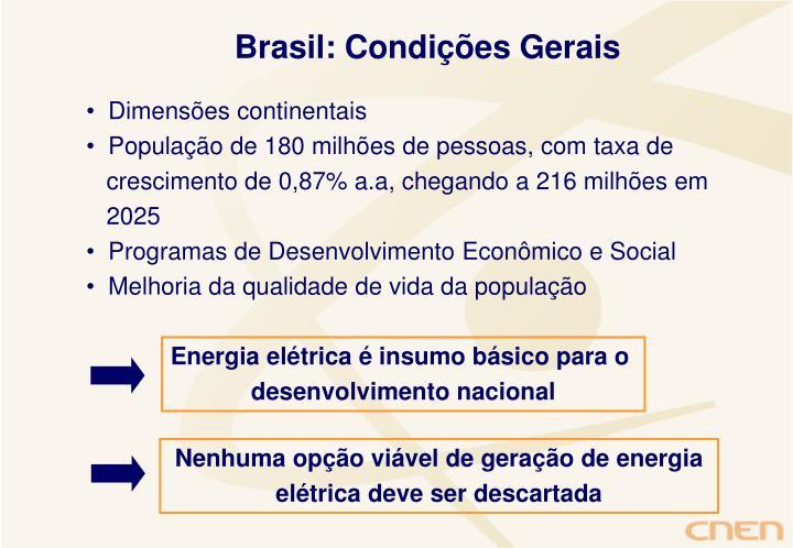 Brasil: Condições Gerais