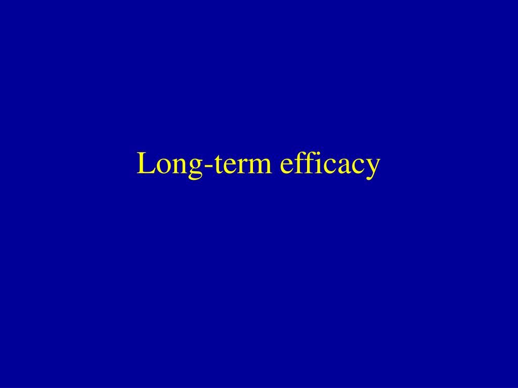 Long-term efficacy