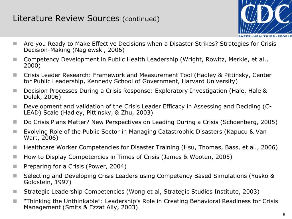 Literature Review Sources