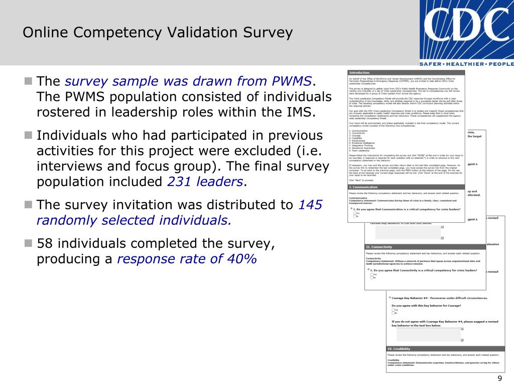 Online Competency Validation Survey