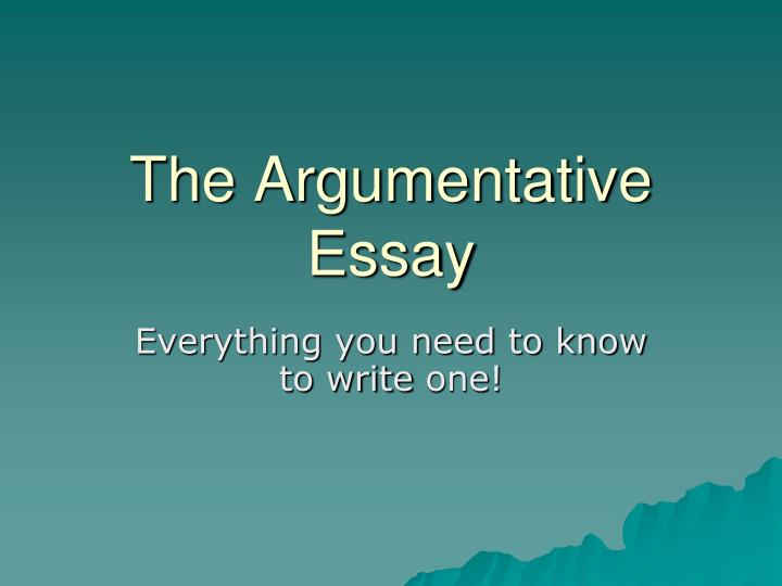 Steps To Write An Argumentative Essay