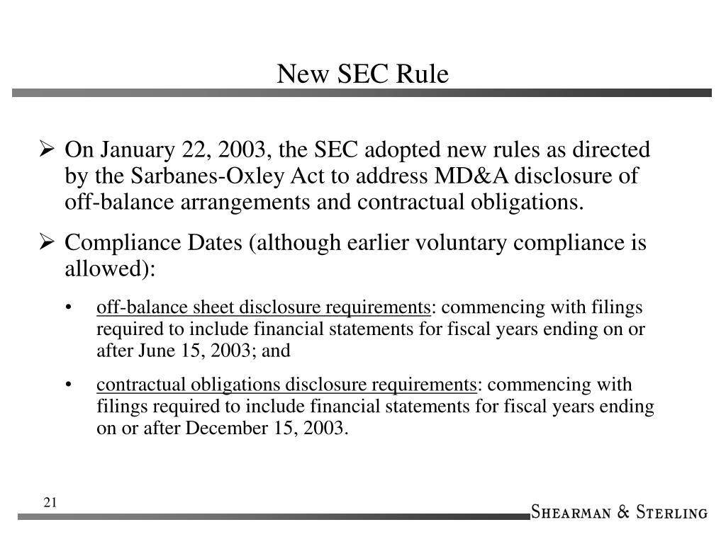 New SEC Rule