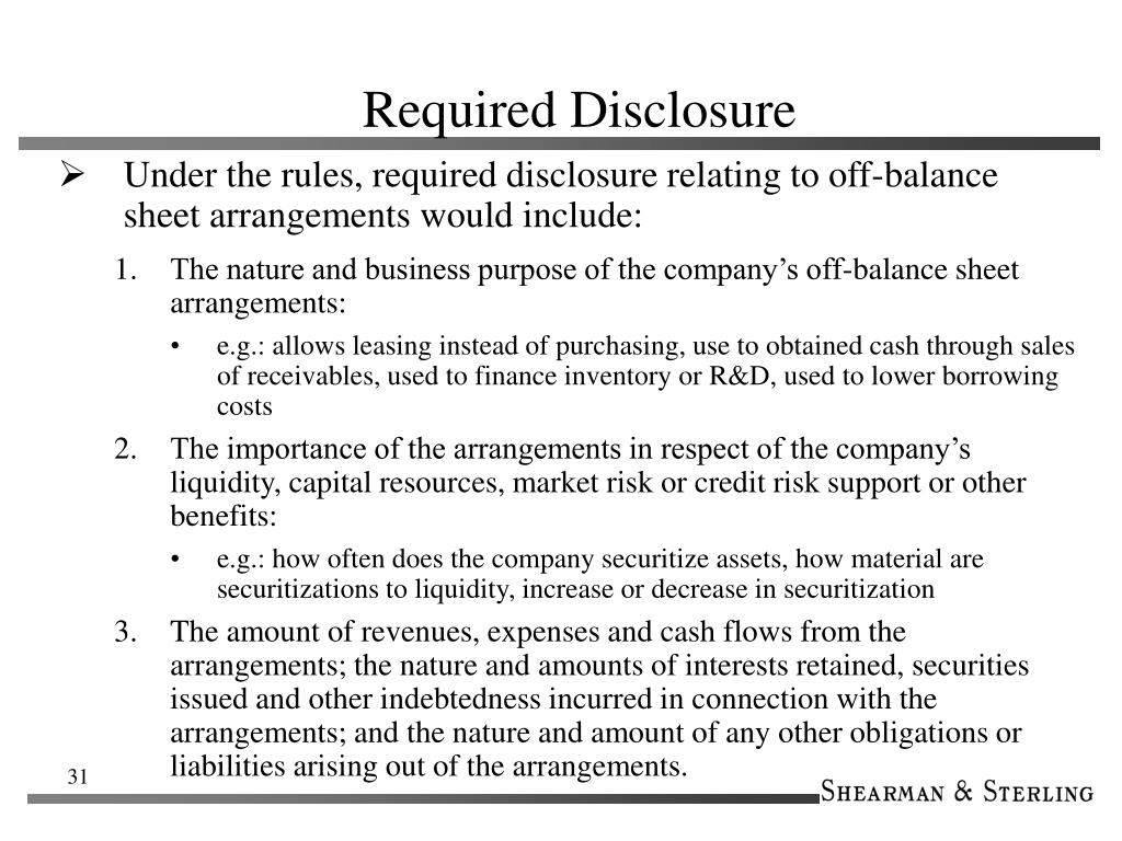 Required Disclosure