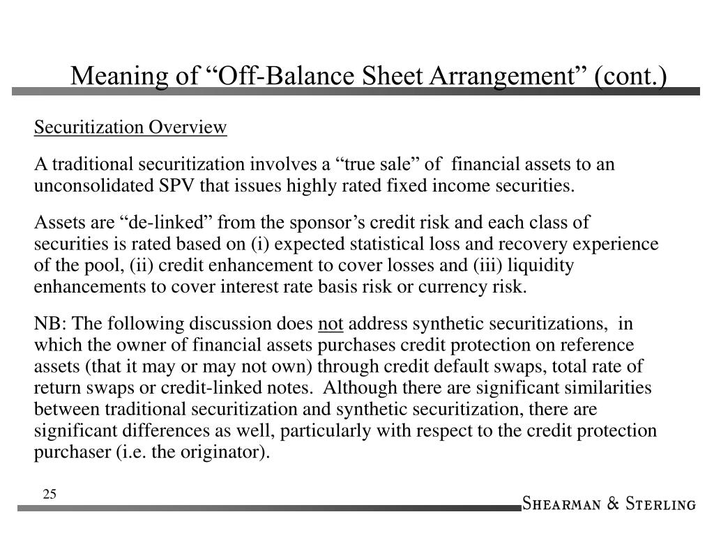 "Meaning of ""Off-Balance Sheet Arrangement"" (cont.)"
