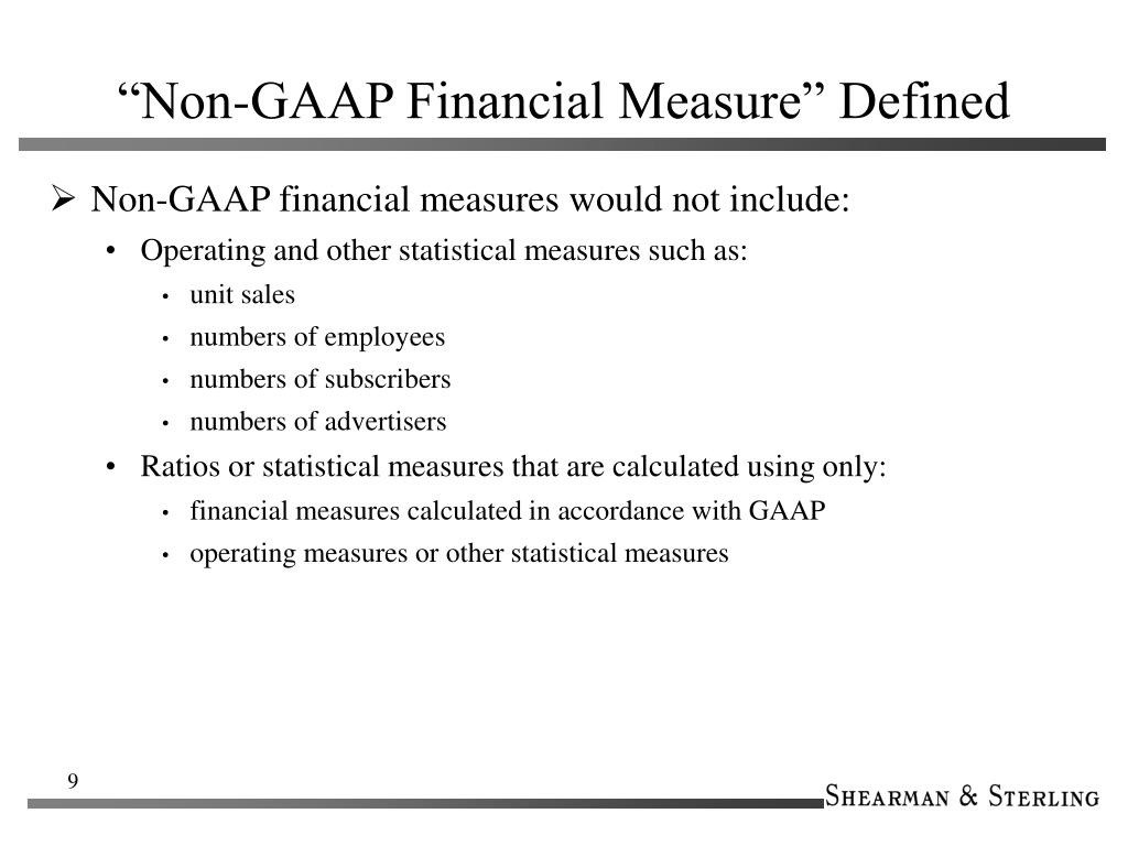 """Non-GAAP Financial Measure"" Defined"
