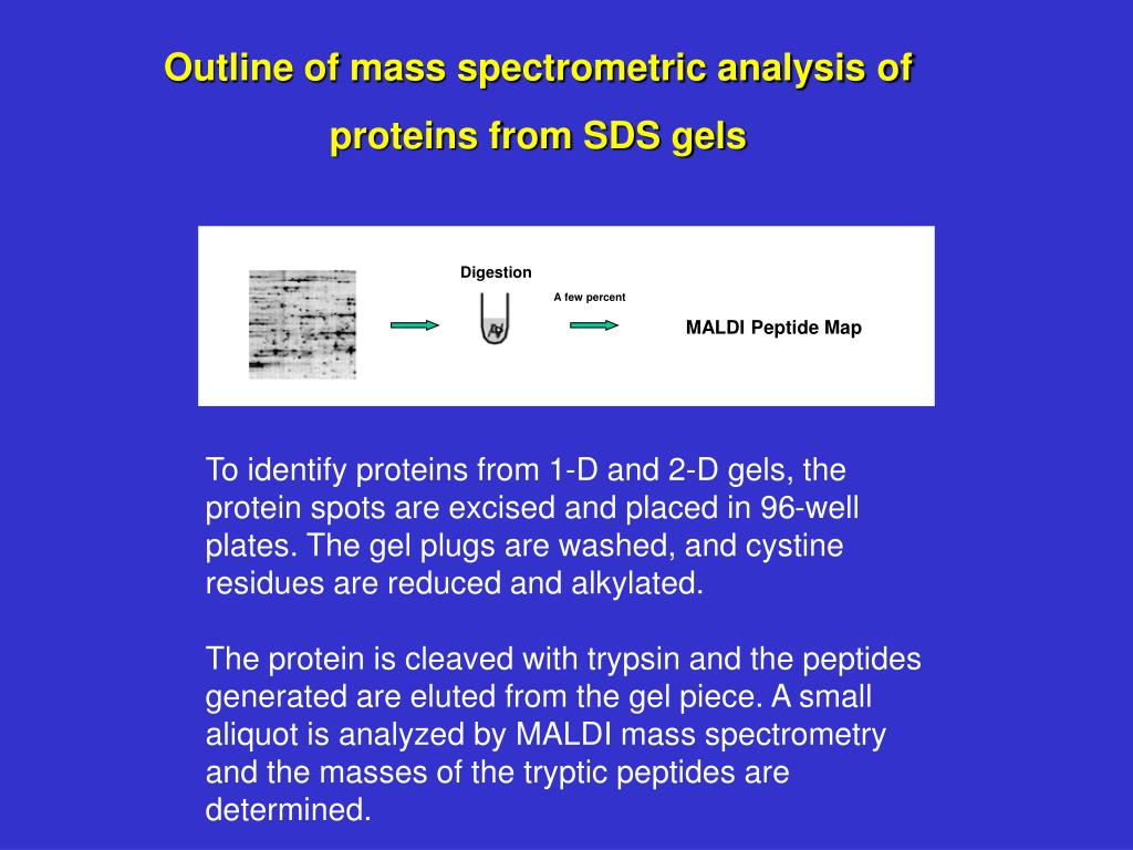 Outline of mass spectrometric analysis of