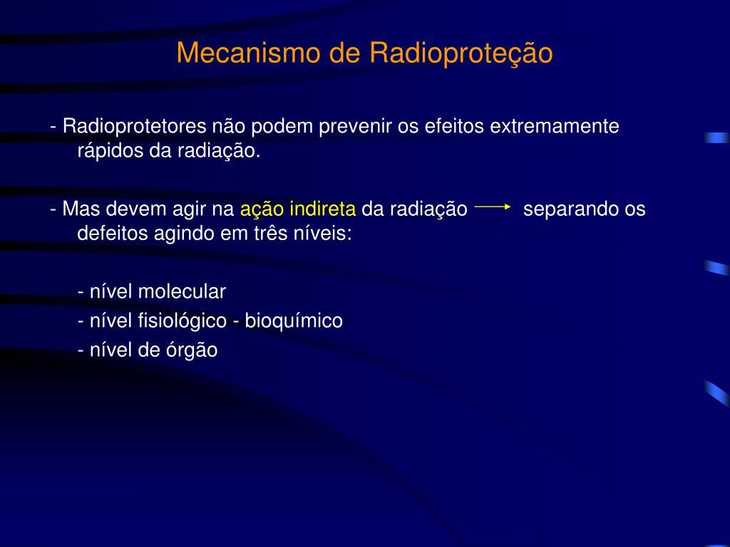 Mecanismo de Radioproteção