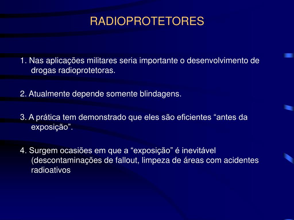 RADIOPROTETORES
