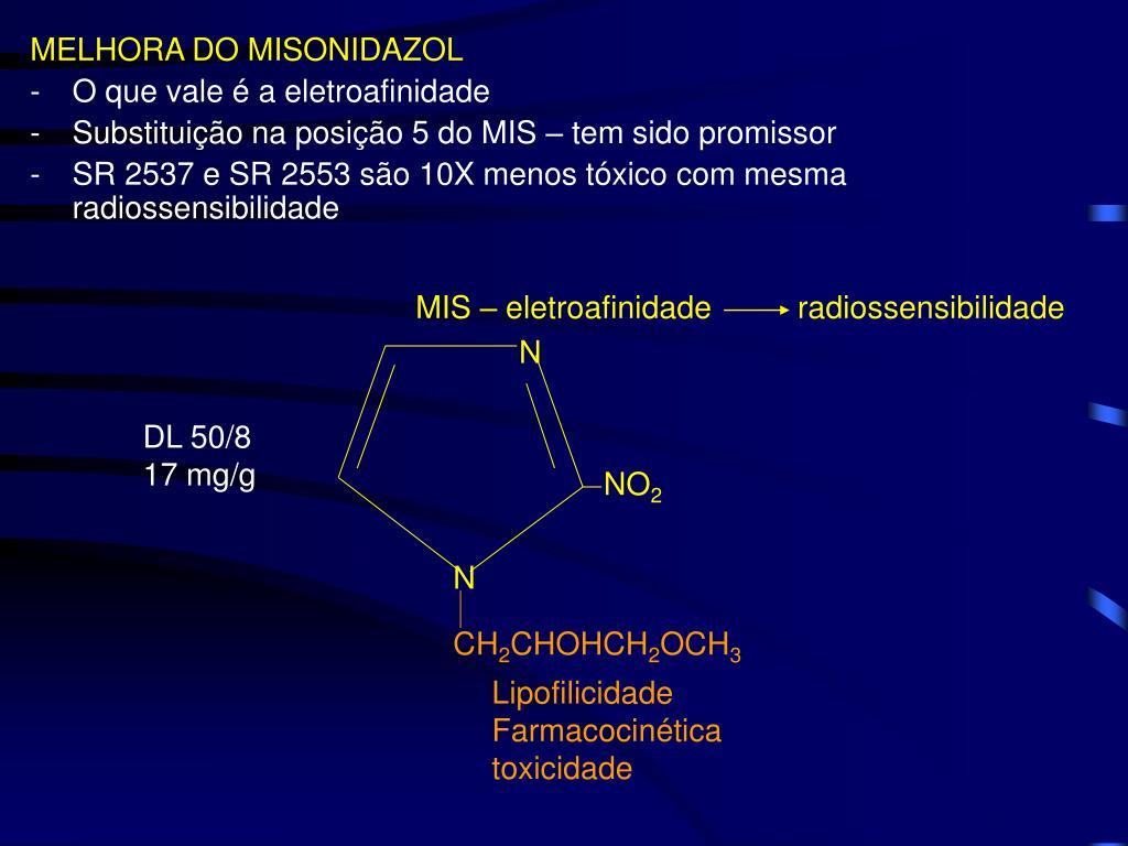MELHORA DO MISONIDAZOL