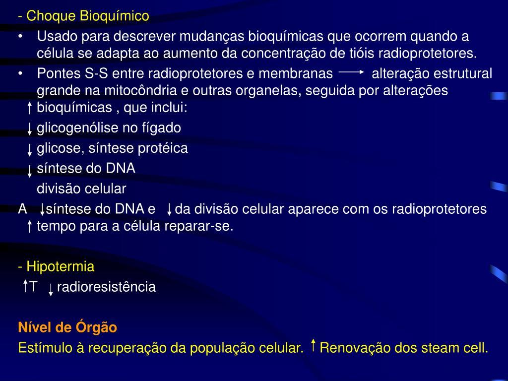 - Choque Bioquímico