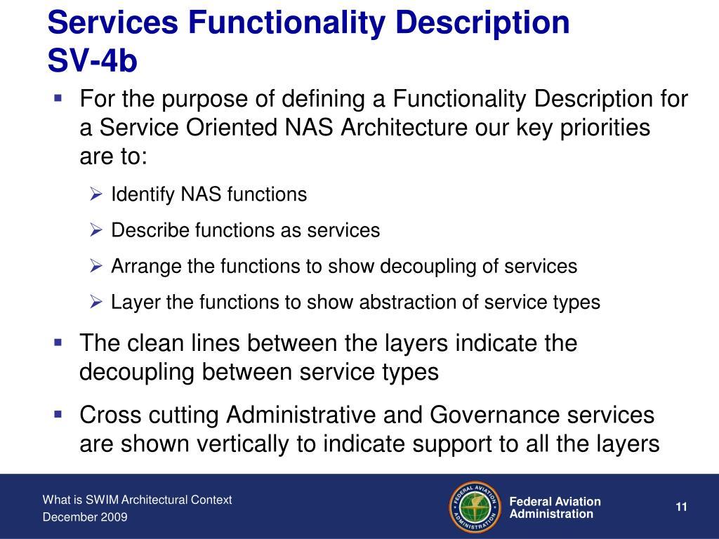 Services Functionality Description