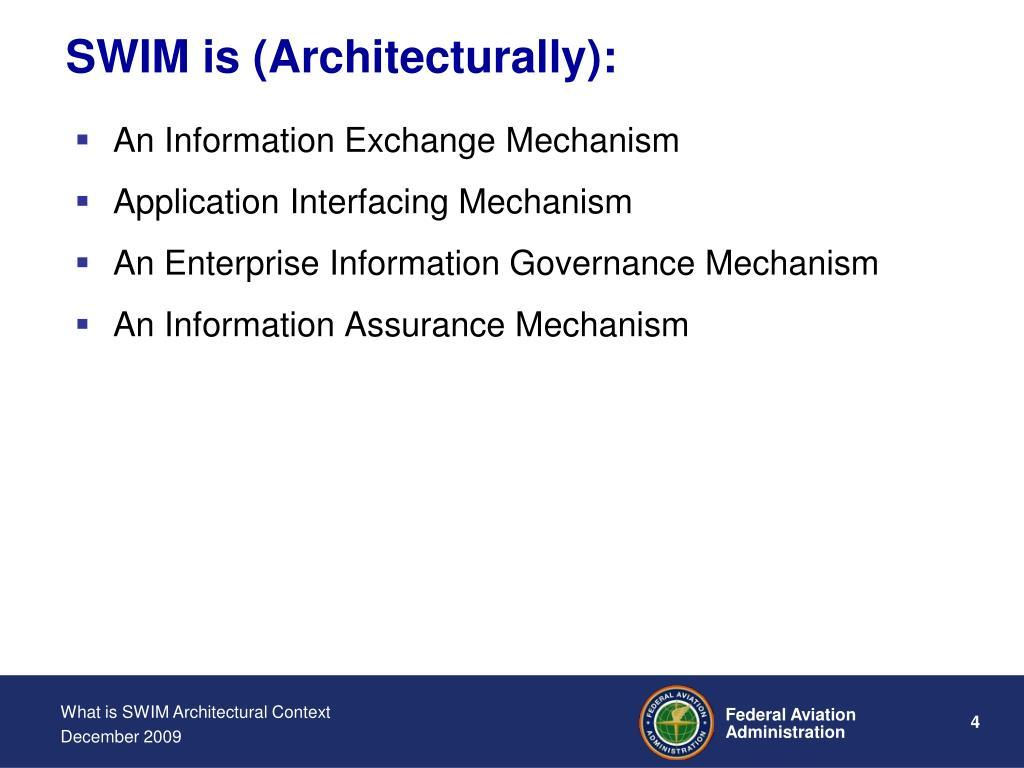 SWIM is (Architecturally):
