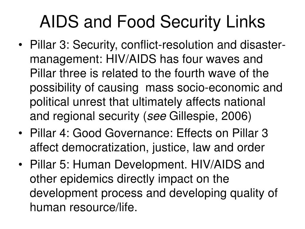 AIDS and Food Security Links