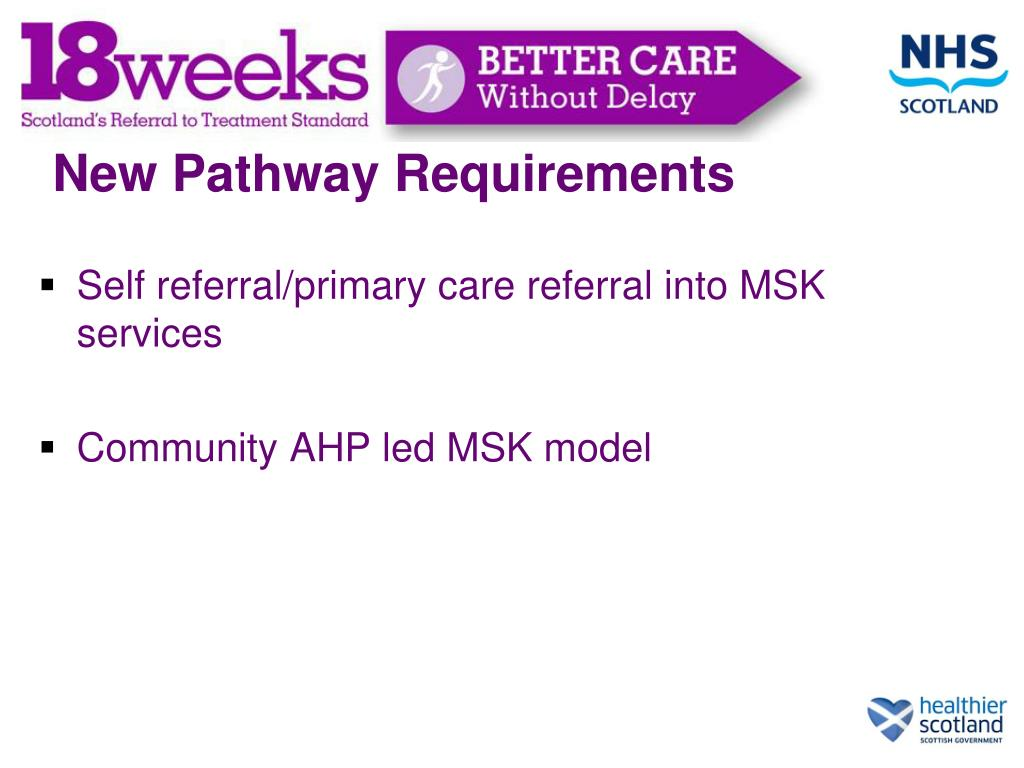 New Pathway Requirements