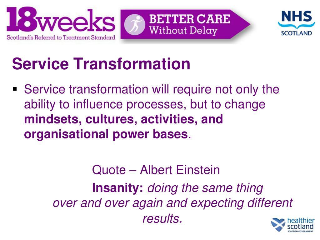 Service Transformation