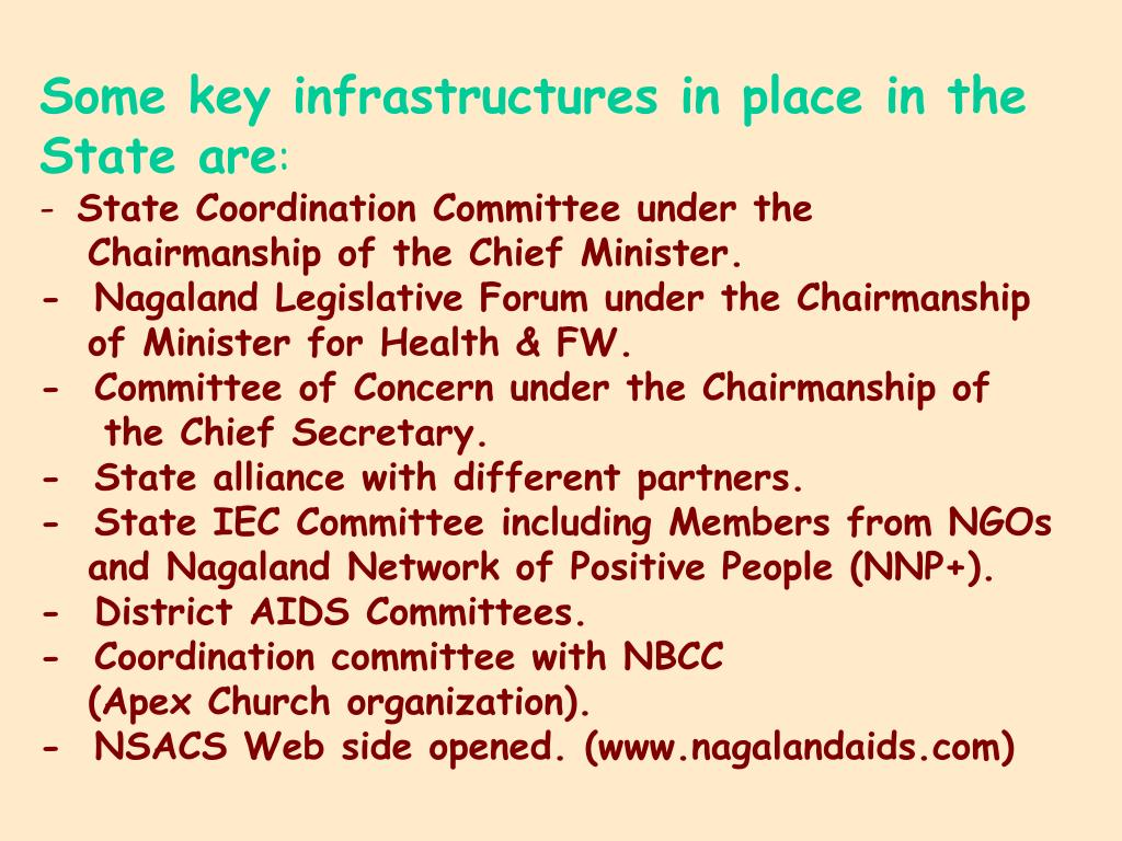 Some key infrastructures in place in the State are
