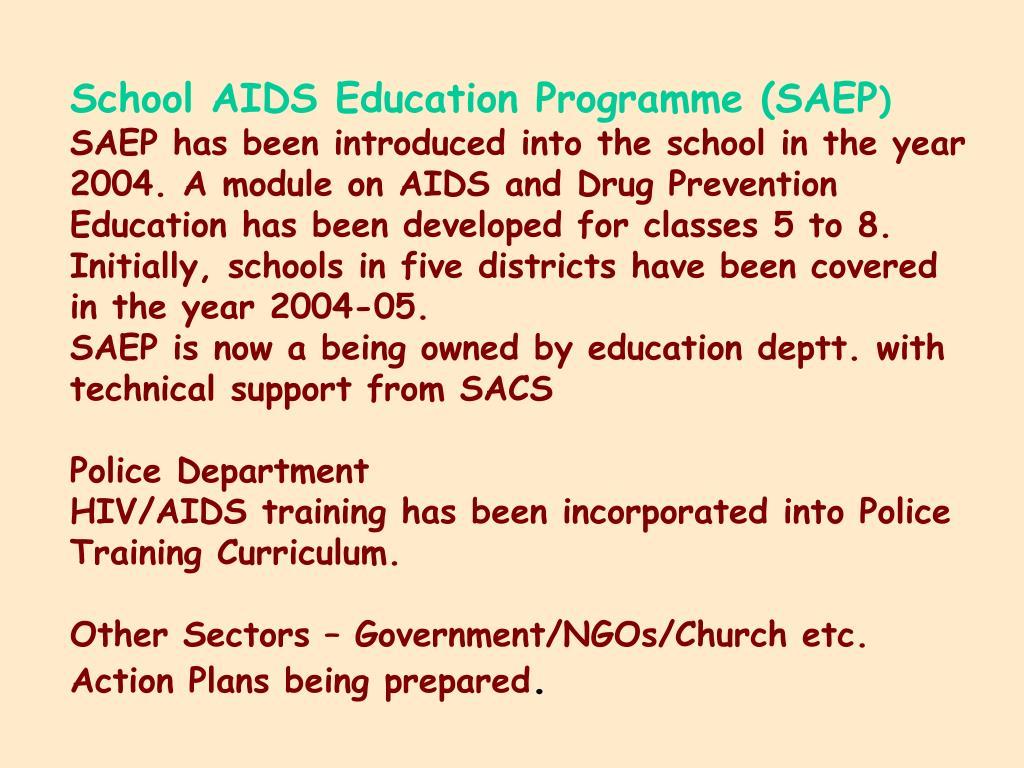School AIDS Education Programme (SAEP
