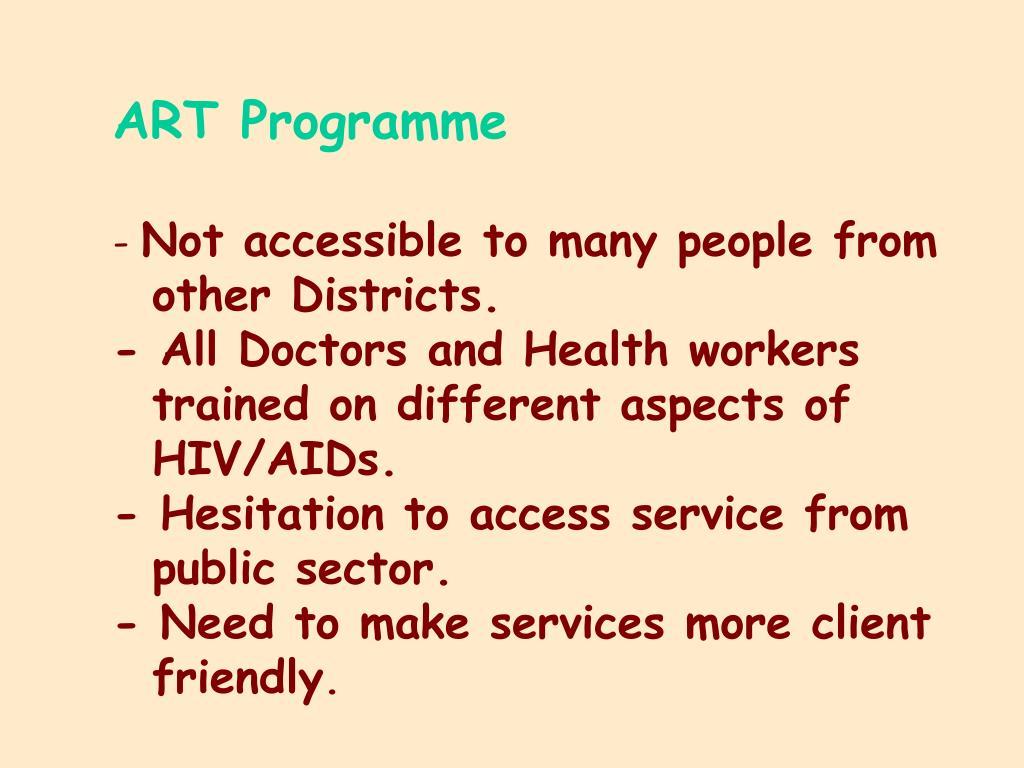 ART Programme