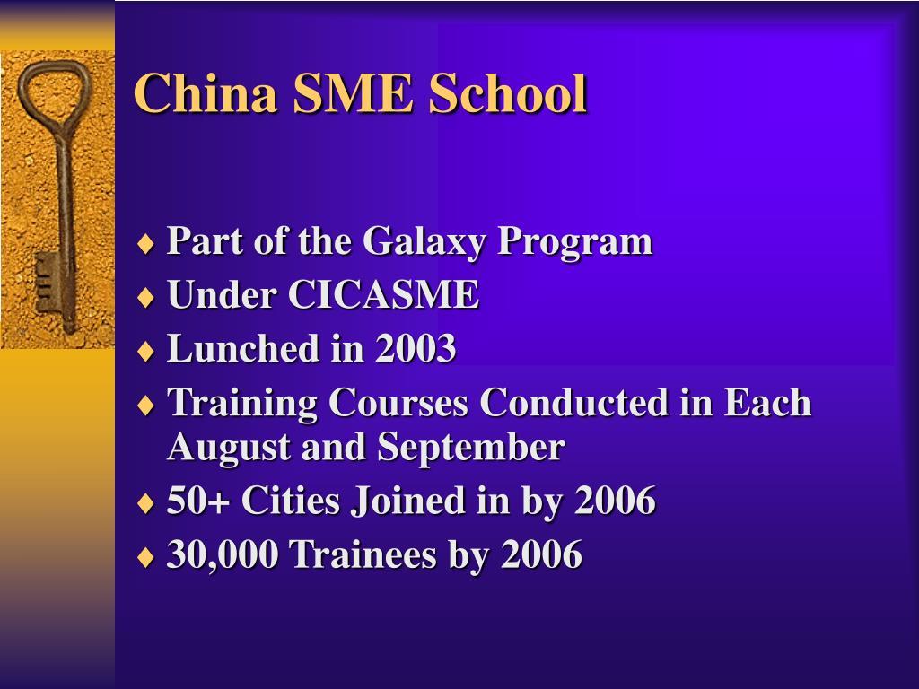 China SME School