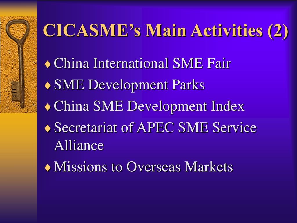 CICASME's Main Activities (2)