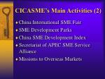cicasme s main activities 2