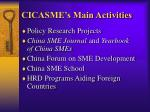 cicasme s main activities