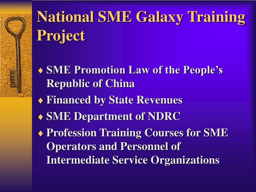 National SME Galaxy Training Project