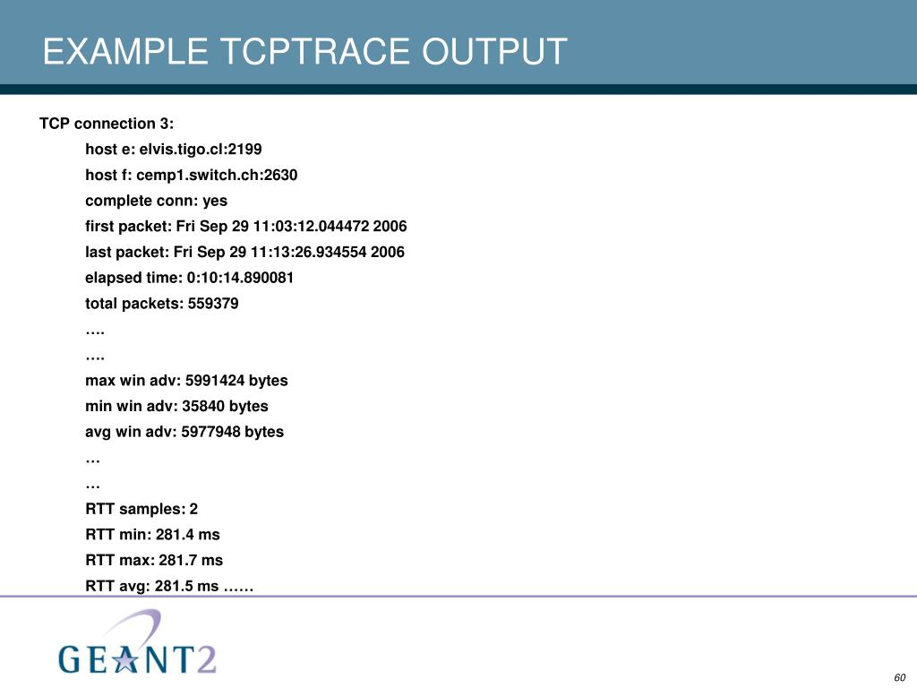 EXAMPLE TCPTRACE OUTPUT