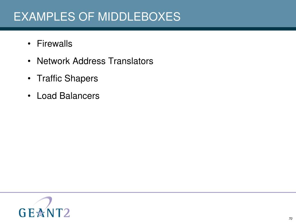 EXAMPLES OF MIDDLEBOXES