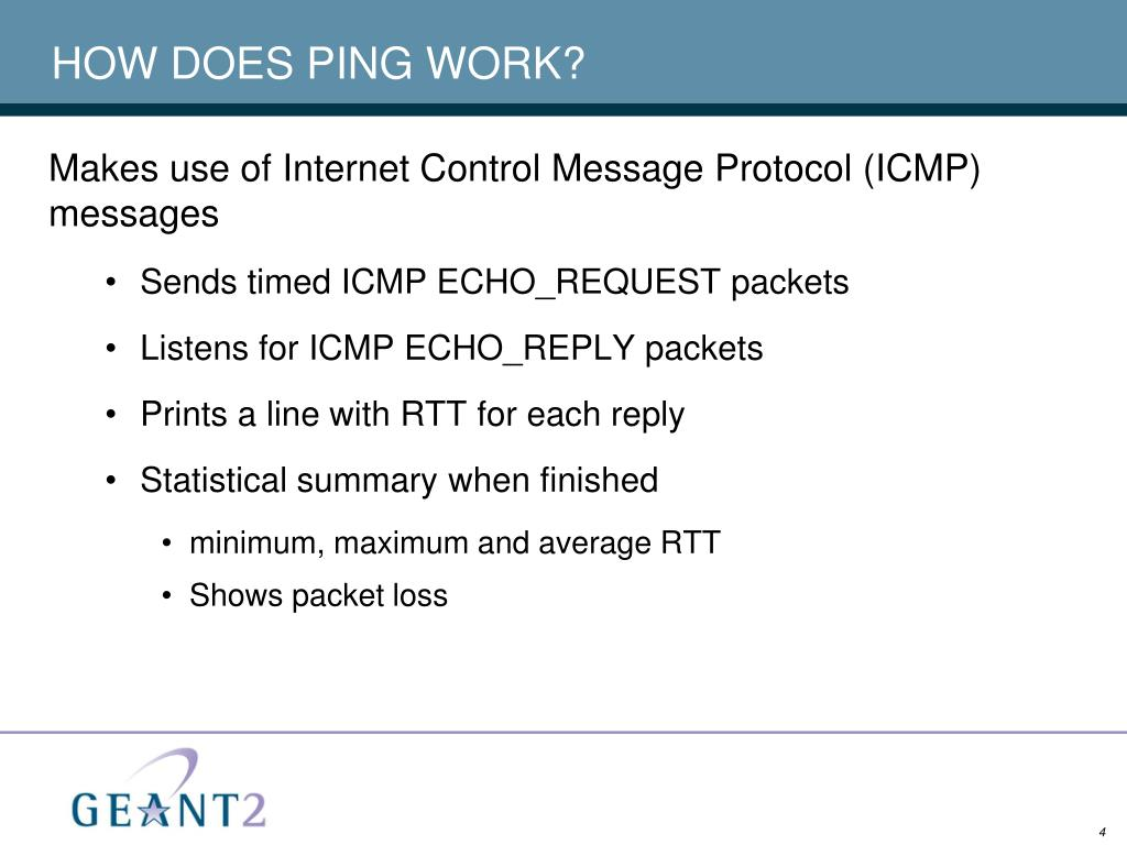 HOW DOES PING WORK?