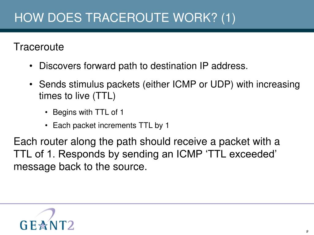 HOW DOES TRACEROUTE WORK? (1)