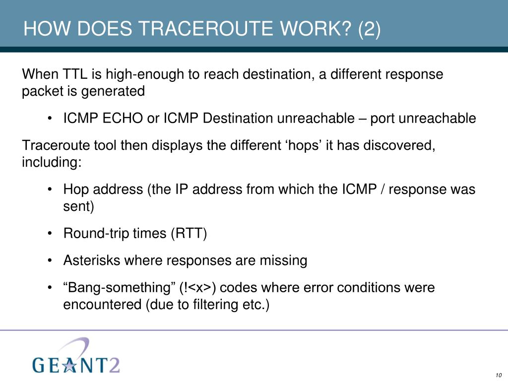 HOW DOES TRACEROUTE WORK? (2)