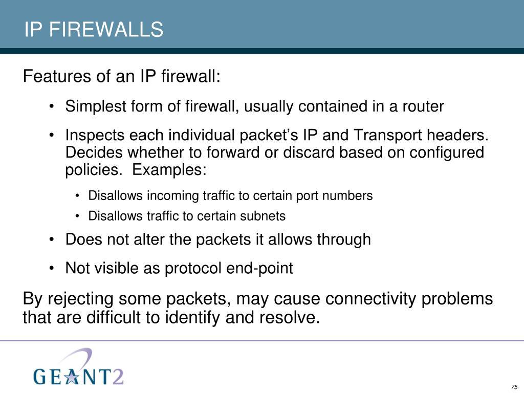 IP FIREWALLS