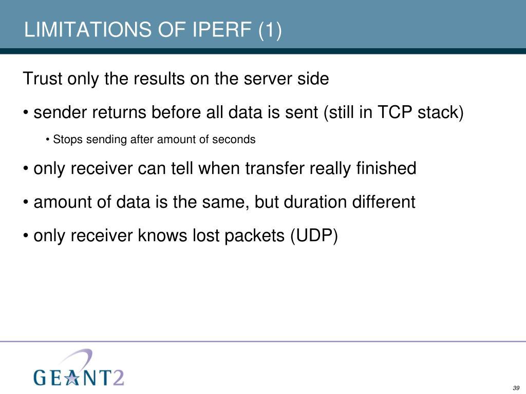 LIMITATIONS OF IPERF (1)
