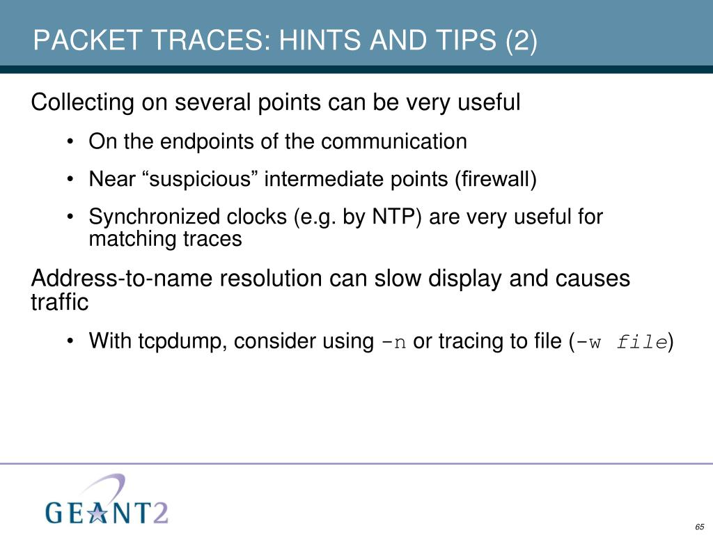 PACKET TRACES: HINTS AND TIPS (2)