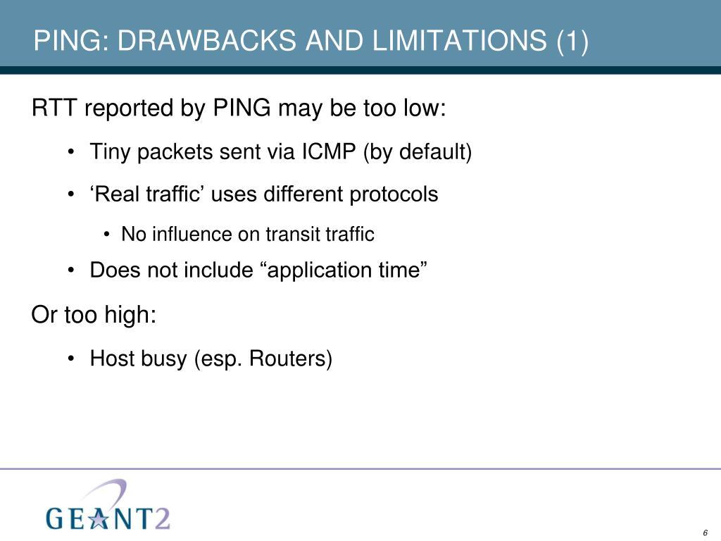 PING: DRAWBACKS AND LIMITATIONS (1)