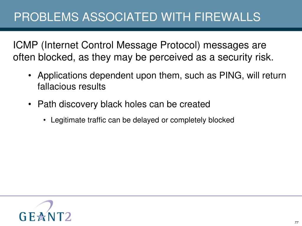 PROBLEMS ASSOCIATED WITH FIREWALLS