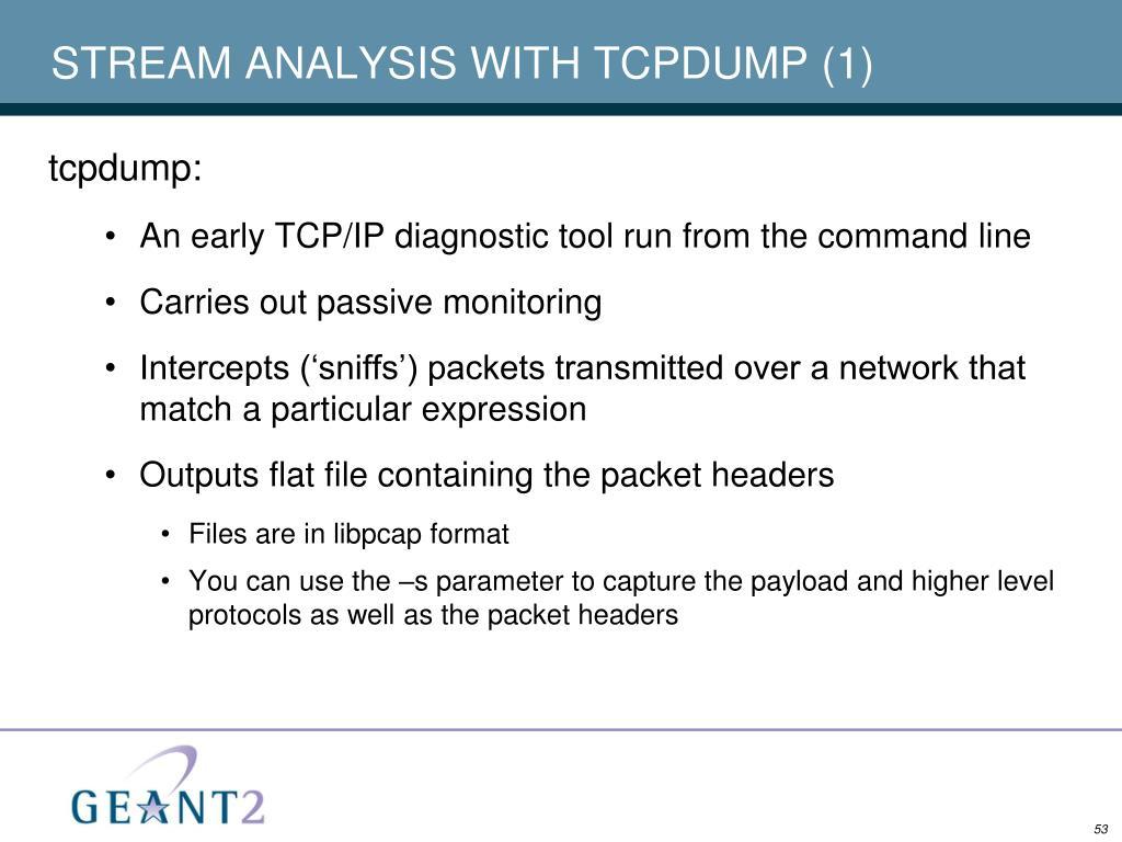 STREAM ANALYSIS WITH TCPDUMP (1)