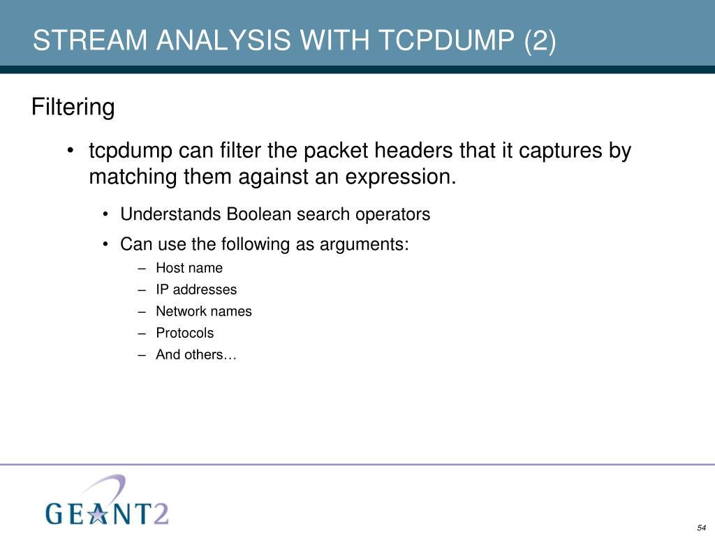 STREAM ANALYSIS WITH TCPDUMP (2)