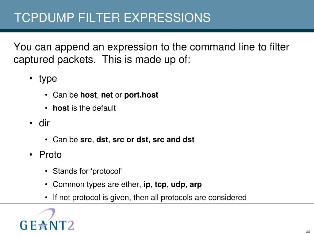 TCPDUMP FILTER EXPRESSIONS