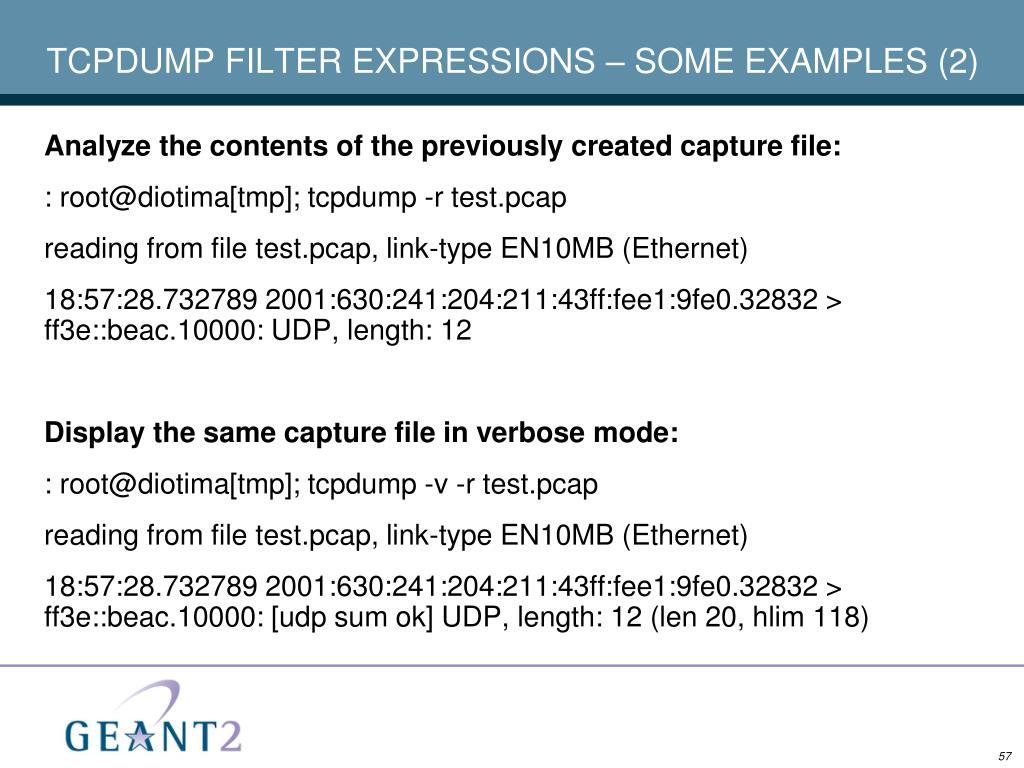 TCPDUMP FILTER EXPRESSIONS – SOME EXAMPLES (2)