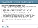 traceroute filtering router hosts