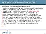 traceroute forward route rtt