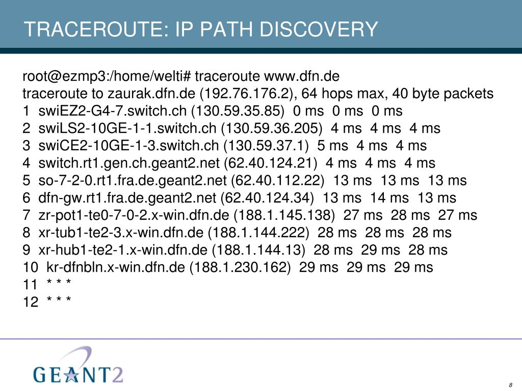 TRACEROUTE: IP PATH DISCOVERY